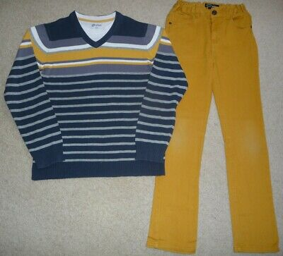 Boys Size 11 Urban By Pumpkin Patch Skinny Jeans With Jumper & Mock Tee