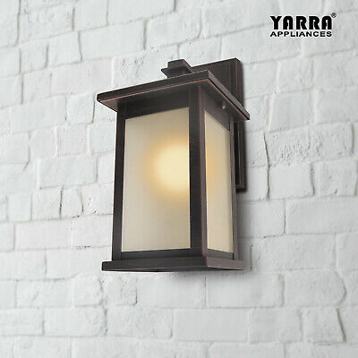 Outdoor Wall Light Plain Frosted Glass Simple ORB  Bronze