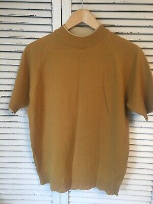 Vintage 1960's Penneys Towncraft Plus Acrylic Mod Sweater/Shirt Medium