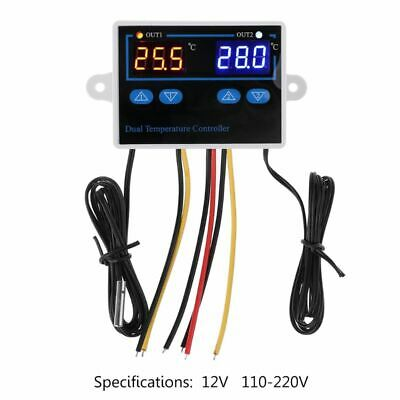 Dual Thermostat for 10A Incubator Digital Heating Cooling Temperature Controller