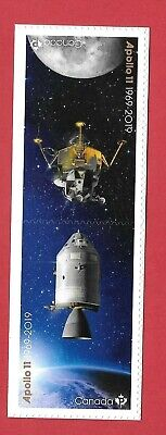 2019 Canada Post 50Th Anniversary Apollo 11 Tete-Beche Pair From Booklet Mnh