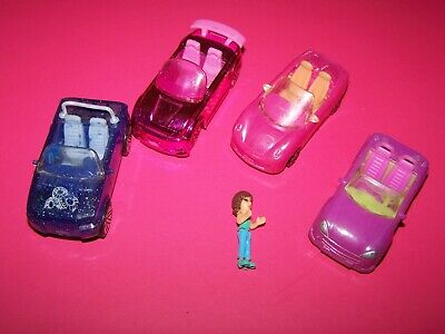 Polly Pocket cars and figure lot