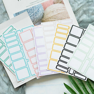 8Sheet Self Adhesive Sticker Blank Writable Label Student Stationery Paper Craft