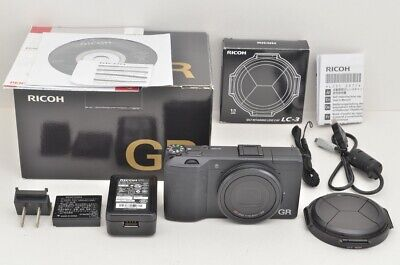 """730 Shots"" RICOH GR 16.2 MP Digital Camera Black Body with Box #190717a"