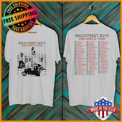 FREESHIP Backstreet Boys DNA World Tour Concert 2019 T-Shirt Unisex White S-6XL