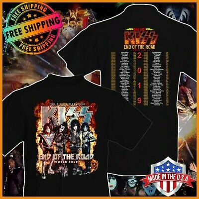 FREESHIP Kiss 2019 End of the Road World Tour Concert T-shirt Black S-6XL Tee