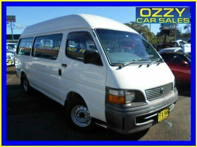 1999 Toyota HiAce RZH125R Commuter White Manual 5sp M Bus