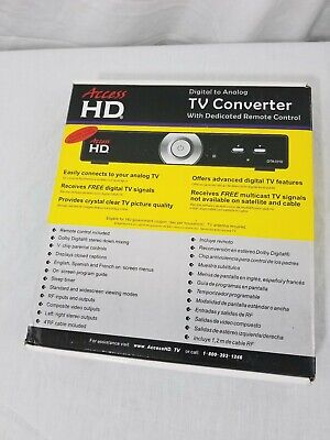 Access HD-TV Digital Converter to Analog with Remote HD DTA1010D