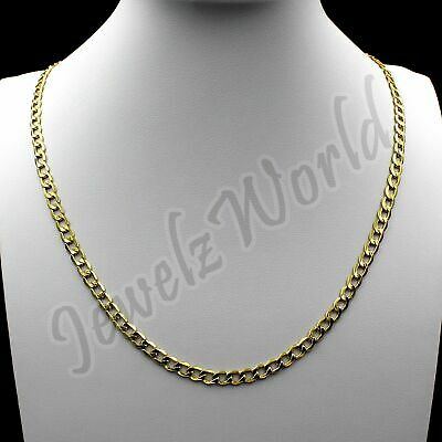 "10K Solid Yellow Gold Cuban Curb Link Chain Necklace 2.5MM 16"" 18"" 20"" 22"" 24"""