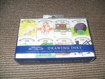 Winsor & Newton Drawing Inks - William Collection (Set of 8) - New & Sealed