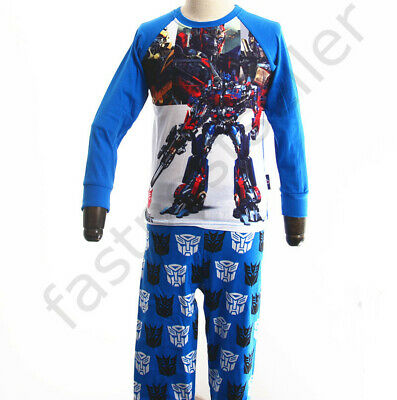 Sale Kids Boys Transformer Prime Pajama  PJ Sleepwear Set Kids Nightie Pyjama