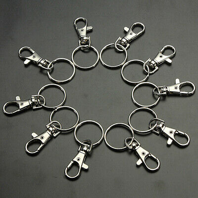 10-30X Swivel Clips Lobster Clasps Trigger Snap Hook Bag Key Ring Charms