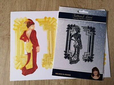 Tattered Lace Art Deco Die - Melded Clarissa + 8 Free Charisma Images to die cut