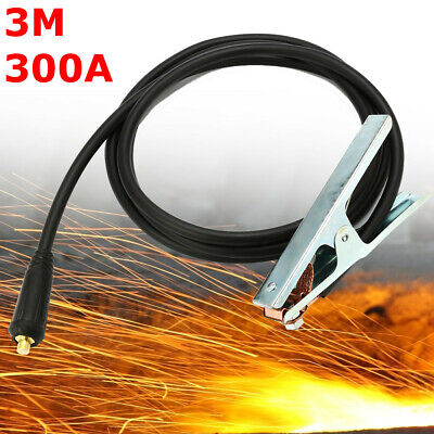 300A Groud Welding Earth Clamp Clip For MIG TIG ARC Welders 3M Cable 10-25