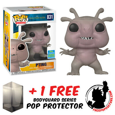Funko Pop Doctor Who Pting Sdcc 2019 Exclusive + Free Pop Protector