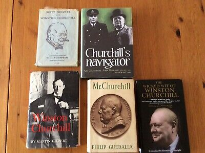 WINSTON CHURCHILL BOOKS X 5 BOOKS. Including Churchill's Navigator. Mr Churchill