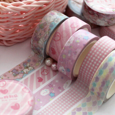 1.5cm Wide Lovely Pink Unicorn Sky Cartoon Washi  DIY Scrapbooking