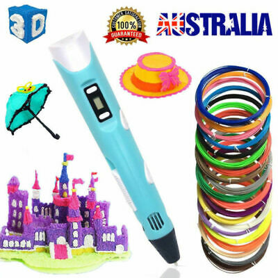 3D Stereoscopic Doodler Printing Drawing Pen Lcd Art Tool Abs / Pla Au Stock
