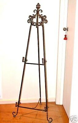 FRENCH DESIGN EASEL WROUGHT IRON  LARGE NEW 1m60 high quality item  2  levels