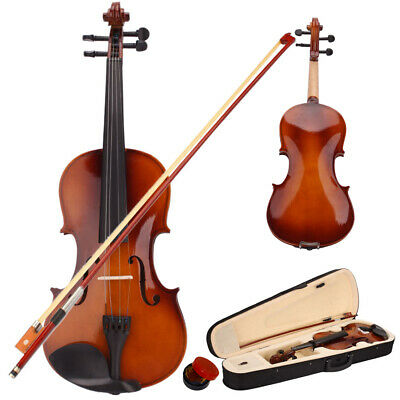 1/2 Acoustic Violin Set with Case + Bow + Rosin Natural for Beginner Student