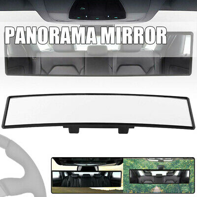 Universal Car Large Rear View Panoramic Wide Angle Mirror Clip On Interior Safe
