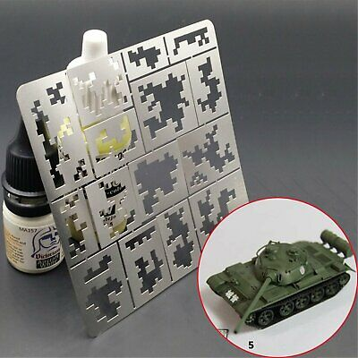 1/35 AFV Digital Camo Stenciling Spraying Templates Medium AJ0014 DIY Model BUS