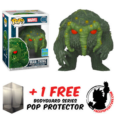 Funko Pop Marvel Man-Thing Sdcc 2019 Exclusive + Free Pop Protector