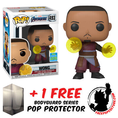 Funko Pop Marvel Avengers End Game Wong Sdcc 2019 Exclusive + Free Pop Protector