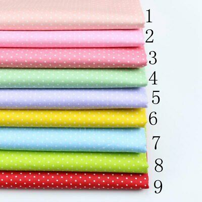 50cm*50CM Polka Dot 100%cotton fabric Quilting Quilt Clothes Bedding Sewing 002