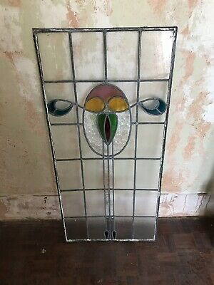 VINTAGE Retro stained glass window panel
