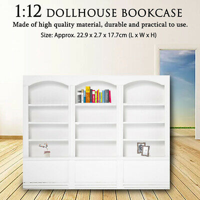 1/12 Dollhouse Miniature Furniture Library Display Bookcase Bookshelf