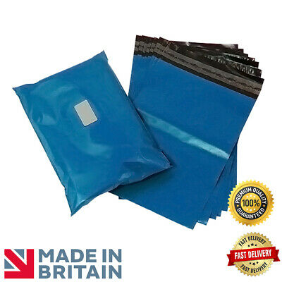 """1000 METALLIC BLUE 5""""x7"""" Strong Plastic Mailing Postal Poly Pack Postage Bags"""