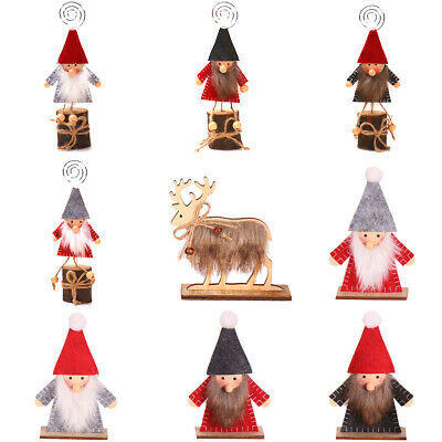Merry Christmas Wooden Ornaments Santa Claus Pendant Home Hanging Decoration