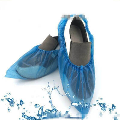 100pcs Unisex Disposable Shoe Covers NonSkid Medical Booties Hospital Waterproof