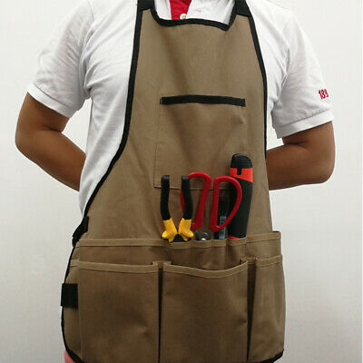 Men Crafts Woodworking Apron Heavy Duty Water Resistant Workshop Tool Pockets