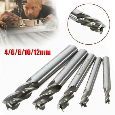 5x End Mill Milling Cutter Machine Tools Extra Long Tungsten Carbide 4  EQW