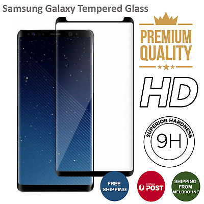 For Samsung Galaxy S9 S8Plus Note8 9 Full Cover Tempered Glass Screen Protector