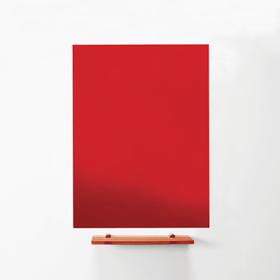 MagniPlan 900 x 600 Magnetic Glass Wipe Board - Red