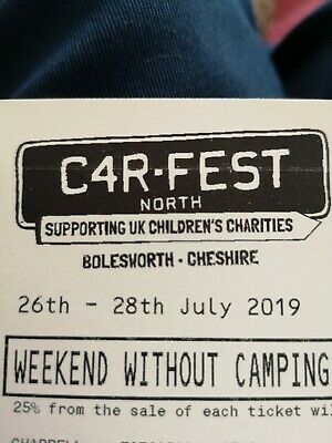 Carfest North 2019 tickets 2 adults & 1 child