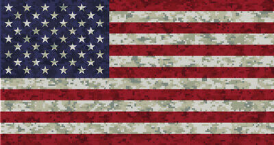 Camo Flag Decal USA Sticker Made in USA Military Marines Army Navy Airforce Car & Truck Graphics Decals Motors