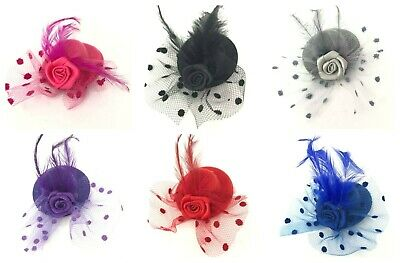 Mini Feather Hat Fascinator Beak Clip Hair Accessories Top Hat 5CM Flower Clip