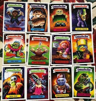 Sdcc 2019 Garbage Pail Kids Gpk Universal Monsters Set Exclusive