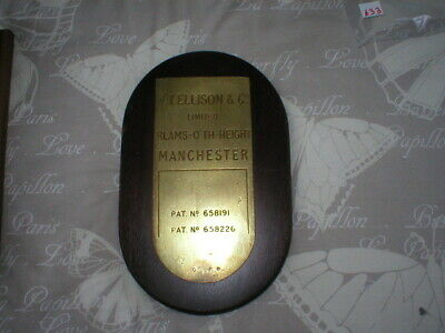 Turnstile Plaque Made By W.t. Ellison & Co From The Old Stoke City Ground