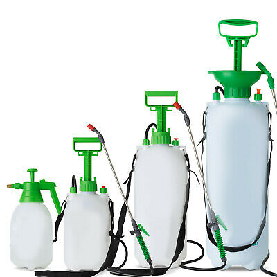 Pressure Sprayer 2 5 8 10 Litre Manual Bottle Knapsack Weed Killer Garden LTR UK