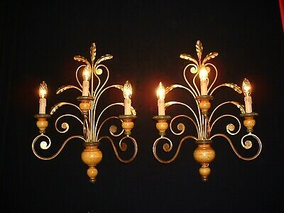 """Vintage large country French style sconces arms 24"""" Tall from France"""