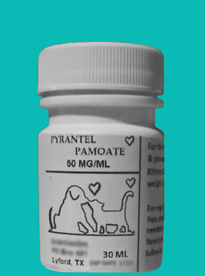 Pyrantel Wormer for puppies dogs kittens cats Liquid aid pets dewormer