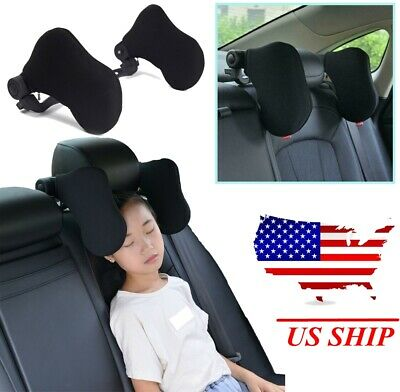Adjustable Car Seat Headrest Pillow Head Neck Support Rest Sleep Side Cushion US