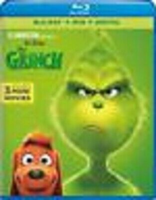 The Grinch (BluRay+DVD+Digital,2019) New/Sealed - W/SLIPCOVER