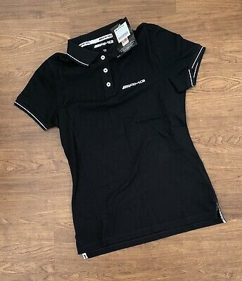 BRAND NEW Official Mercedes AMG Petronas Ladies Polo Shirt Top Black F1 Size XS