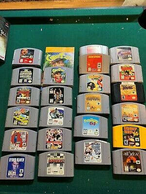 Lot of 23 Nintendo 64 games-Clayfighter, Donkey Kong, Pokemon Stadium and others